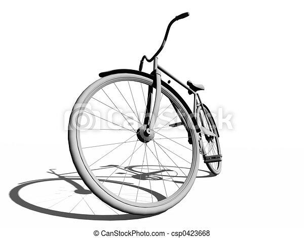 fiets, classieke - csp0423668