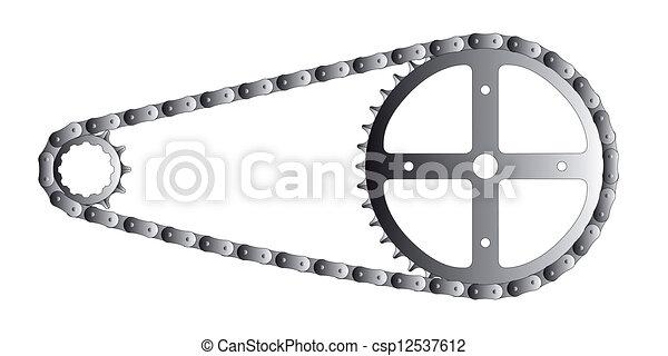 fiets, detail - csp12537612