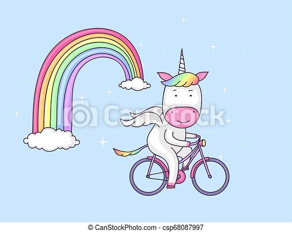 fiets, eenhoorn - csp68087997