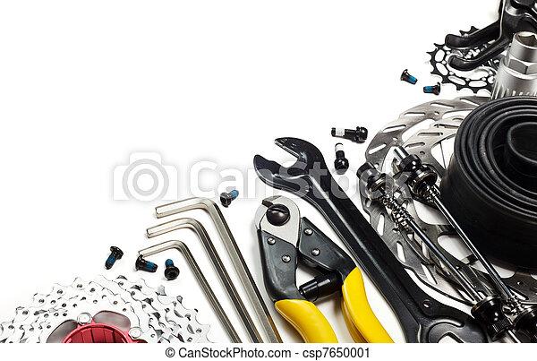 fiets, gereedschap, reserveonderdelen - csp7650001