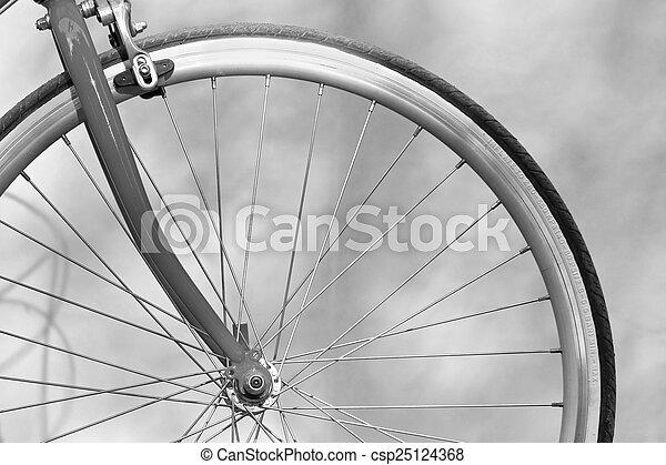 fiets hengsel, op, hand, afsluiten, houden - csp25124368