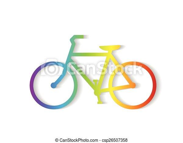 fiets, illustratie - csp26507358