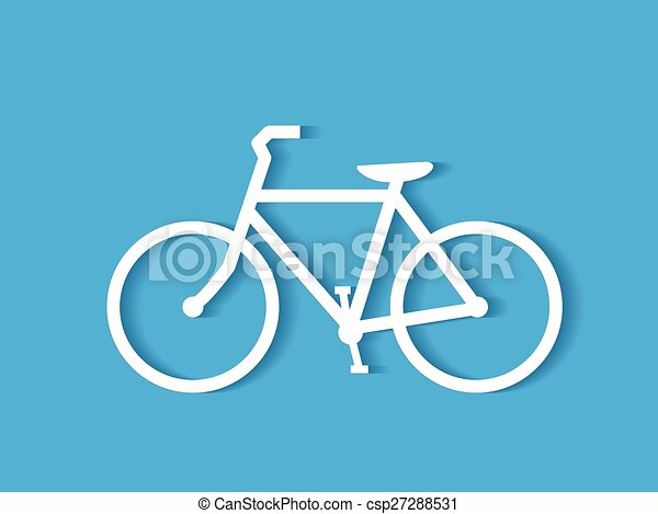 fiets, illustratie - csp27288531