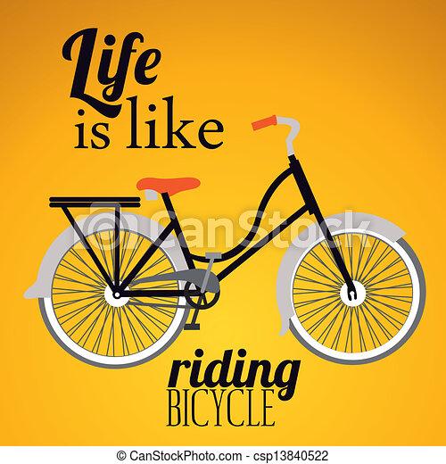 fiets, illustratie - csp13840522