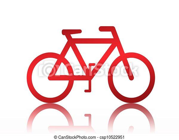 fiets, illustratie - csp10522951