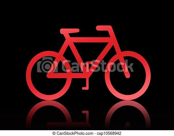 fiets, illustratie - csp10568942