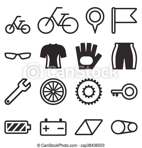 fiets, illustratie - csp38436503