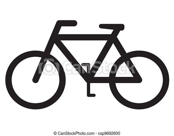 fiets, silhouette - csp9692600