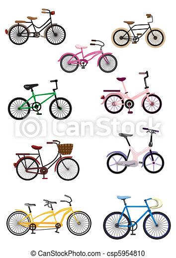 fiets, spotprent - csp5954810