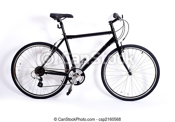 fiets, witte  - csp2160568