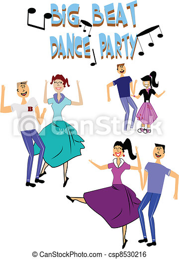 fifties dance party - csp8530216