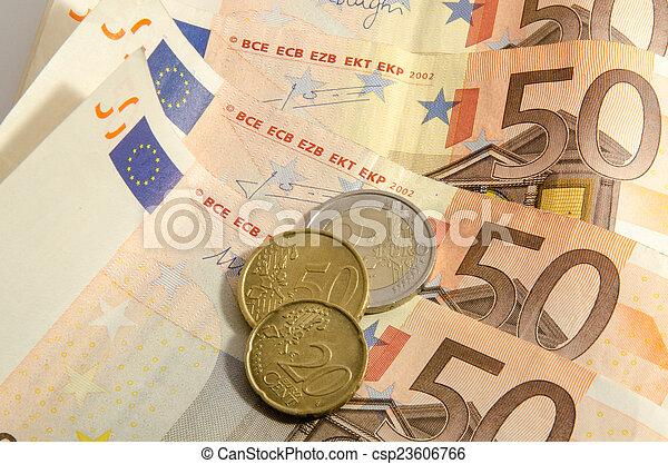 fifty euros background - csp23606766