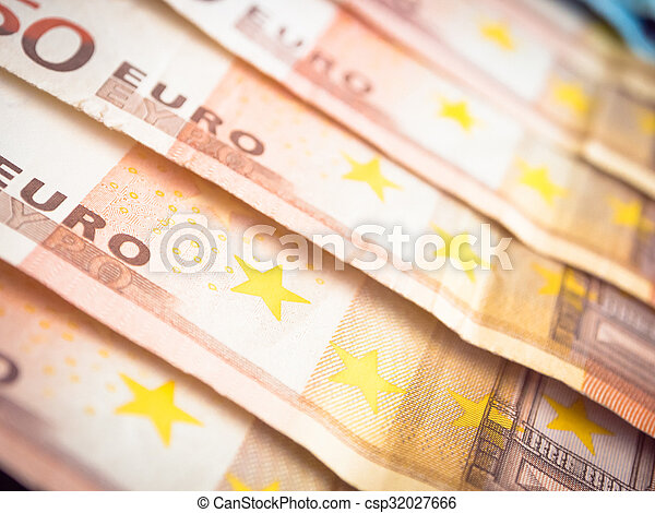 Fifty euros lined - csp32027666