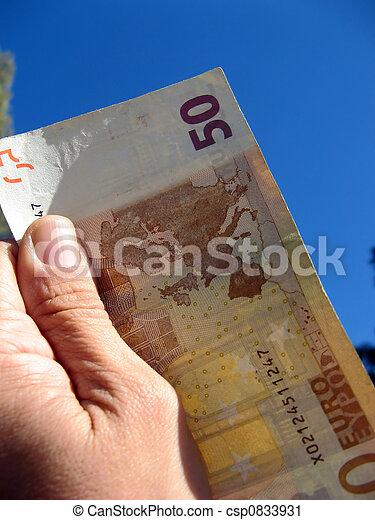 Fifty euros - csp0833931