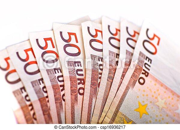 Fifty Euros Pile - csp16936217