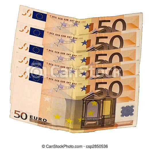 Fifty euros - csp2850536