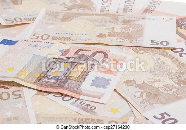 Fifty euros - csp27164230