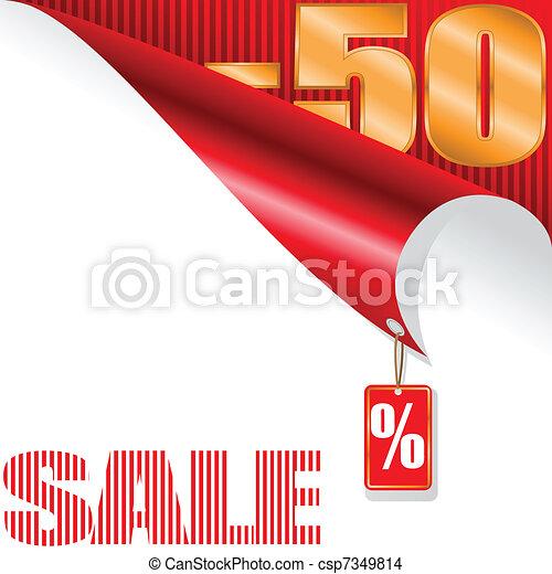fifty-percent sale - csp7349814