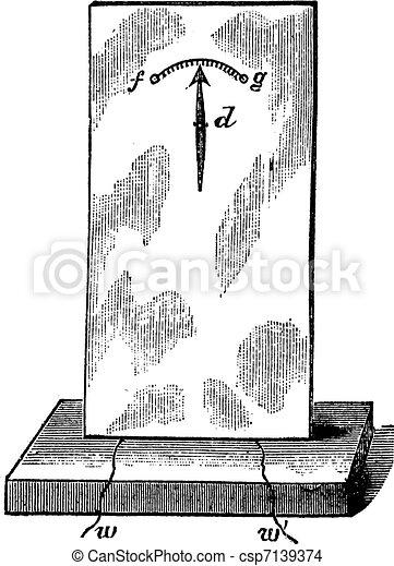 fig., 型, 針, -, 単一, 4., テレグラフ, engraving. - csp7139374