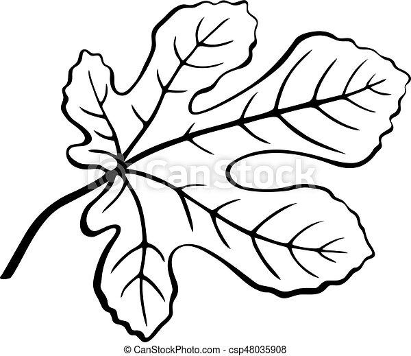Fig Leaf Black Pictogram - csp48035908