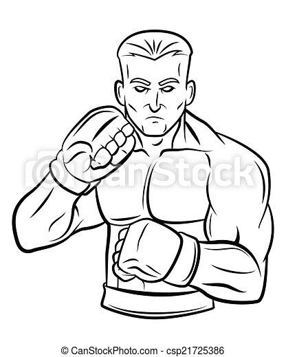 fighter man - csp21725386