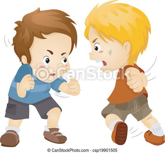 Fighting Boys - csp19901505