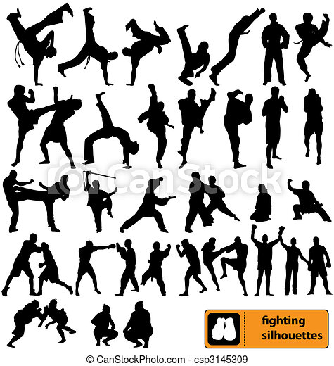 fighting silhouettes collection - csp3145309