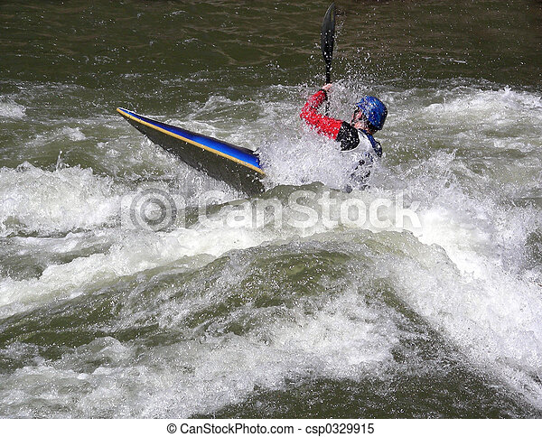 Fighting the Rapids - csp0329915