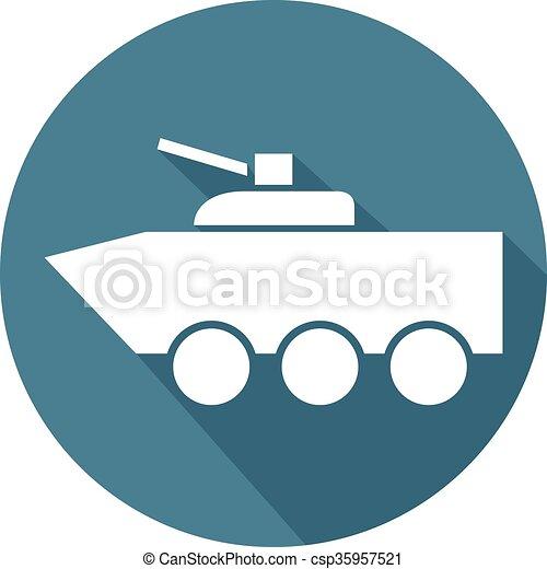 fighting vehicle flat icon - csp35957521