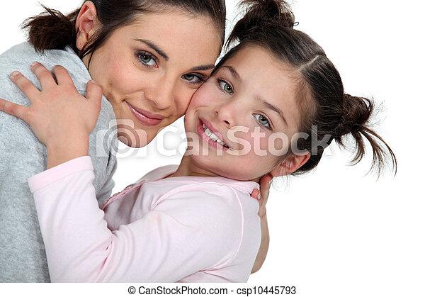 figlia, abbracciare, madre - csp10445793