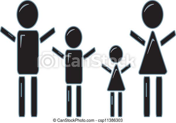 figur, pind, familie - csp11386303