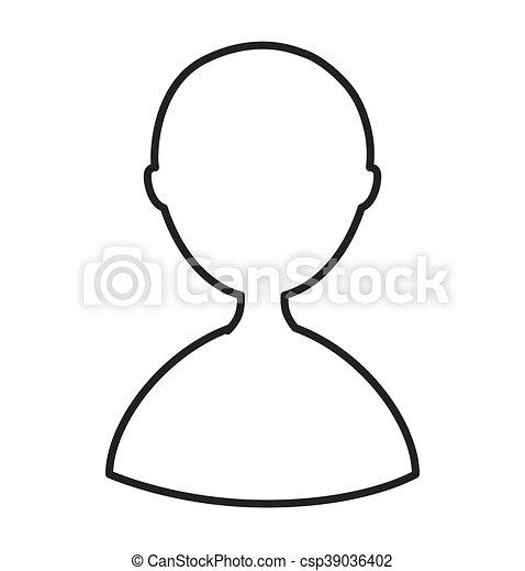 Figura Isolado Desenho Avatar Homem Icone Grafico Figura