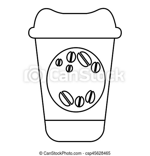 figure coffee drink food icon - csp45628465