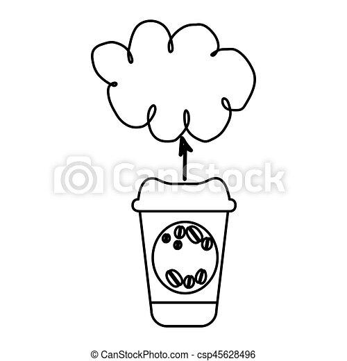 figure coffee online clound icon - csp45628496