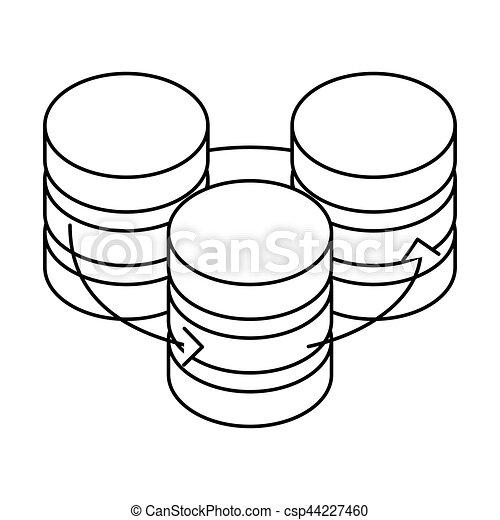 Figure Database Hosting Icon Image Design Vector Illustration