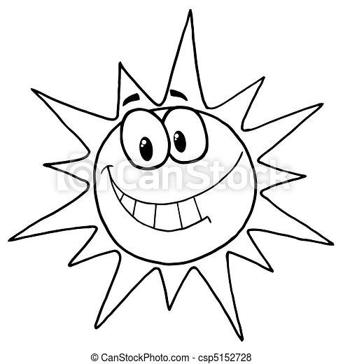 figure, ensoleillé, sourire - csp5152728
