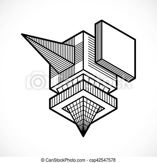 Figure Forme Abstraite Polygonal Vecteur Geometrique 3d