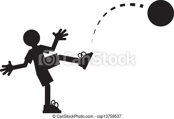 Figure Kicking Ball  - csp13759537