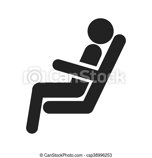 figure of person sitting in chair train. Black Bedroom Furniture Sets. Home Design Ideas