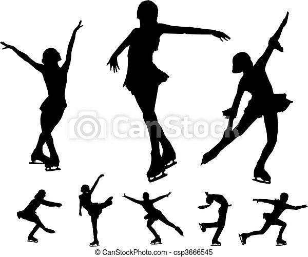 Figure skating vectors - csp3666545
