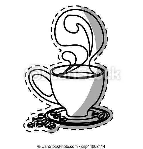 figure small coffee cup with steam and saucer figure small rh canstockphoto com
