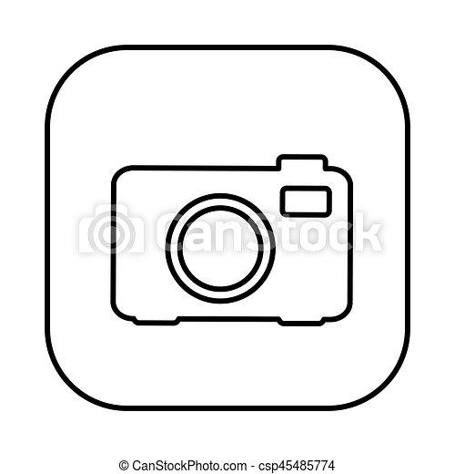 figure symbol camera icon - csp45485774