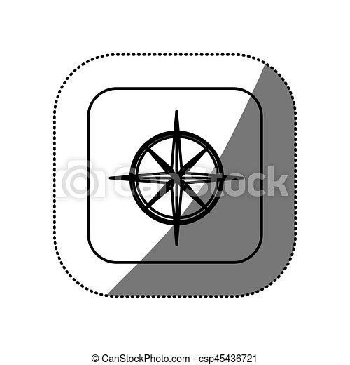 figure symbol compass icon - csp45436721