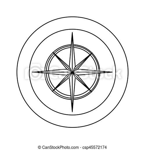 figure symbol compass star icon - csp45572174