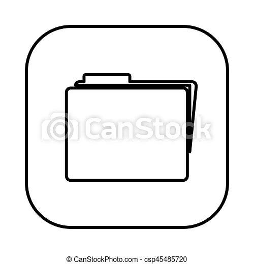 figure symbol file icon - csp45485720