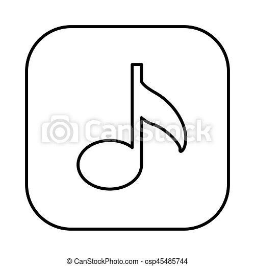 figure symbol music icon - csp45485744