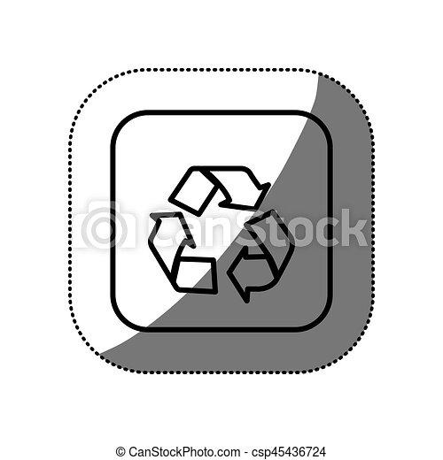 figure symbol recycle icon - csp45436724