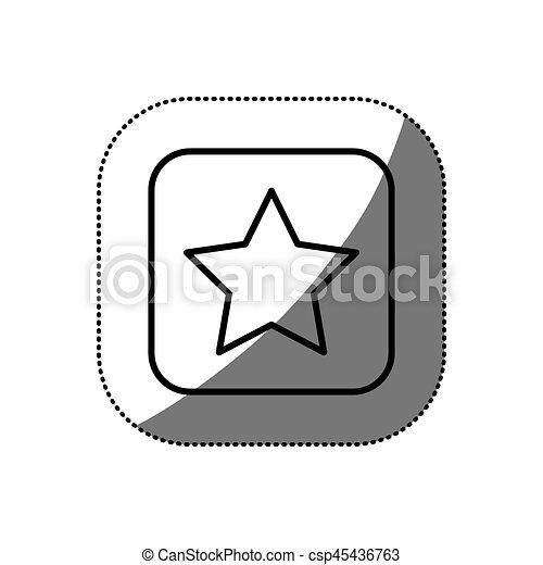 figure symbol star icon - csp45436763