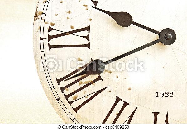 figure, vieux, horloge - csp6409250