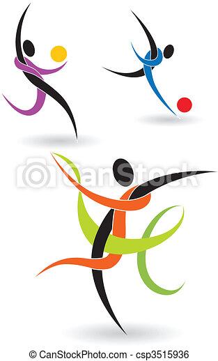 Figures Athletes - csp3515936